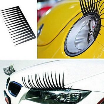 Car Eyelash Headlight Decoration
