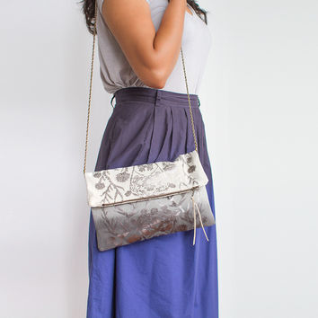 The Esther Clutch in Gray