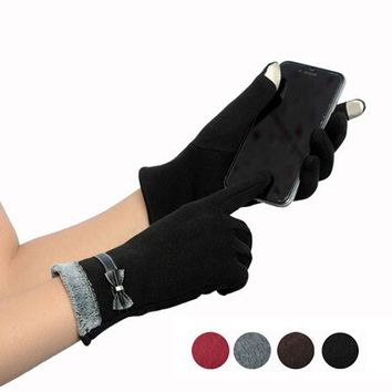Women Fashion  Winter Warm Gloves Touch Screen   Gloves Mittens