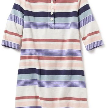 Old Navy Striped Henley Dress For Baby