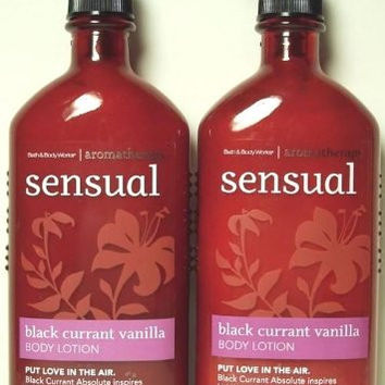 Bath & Body Works Aromatherapy Black Currant Vanilla Body Lotion Twin-pack - 6.5 Oz