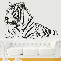 Wall Decal Vinyl Sticker Decals Art Decor Design  Tiger Lion Leopard Panter Animals  Nature Wild Cat Fashion Bedroom Dorm (r812)
