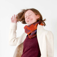 Felted  infinity scarf  -  marsala - spring trends