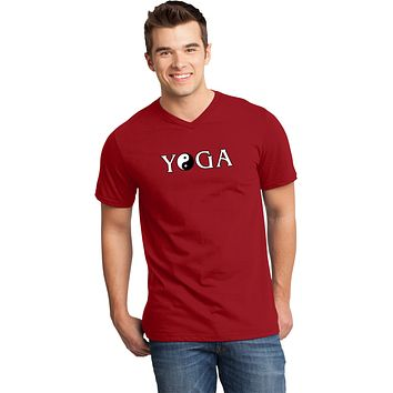 Yoga Clothing For You Yin Yang Yoga Text Important V-neck Yoga Tee Shirt