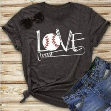 Love, Baseball, Softball. T-Shirt