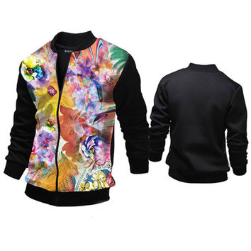 Designer Color Print Men's Varsity Jacket