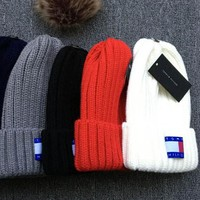 Tommy Hilfiger Knit And Pom Hat Cap