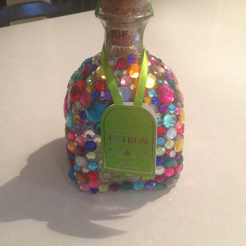 Bedazzled Patron Bottle by BedazzledBottles on Etsy