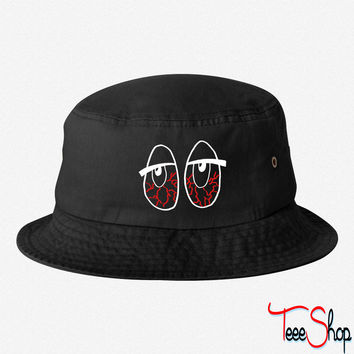 bloodshot bucket hat