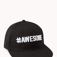 FOREVER 21 #Awesome Baseball Cap Black/White One