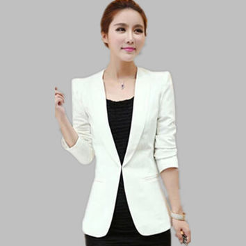 European Street Fashion Slim Blazer Women OL Office Blazer Feminino Cardigan Female Jacket