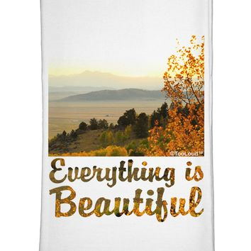 Everything is Beautiful - Sunrise Flour Sack Dish Towels by TooLoud