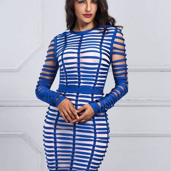 Royal Blue Dashia  Bodycon Dress