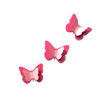 Paper butterflies 3D Paper butterfly Butterfly party decors Pink butterfly Large butterflies Butterfly die cuts Butterfly decoration