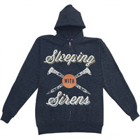 Sleeping With Sirens Men's  Nails Hooded Sweatshirt Navy