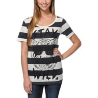 Glamour Kills Stay Wild Natural & Black Stripe Tee Shirt at Zumiez : PDP