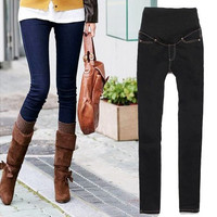 2016 New Women Fashion Demin Pants Skinny Maternity Jeans  [9305970119]