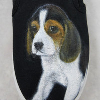 Custom Hand Painted Toms Shoes- Beagle Dog Pet