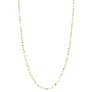 """18k Gold Plated Plain Classic Link Chain Necklace Spring Ring 19"""""""