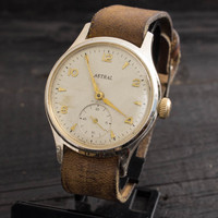 Vintage Astral watch gold plated british mens watch Made in England