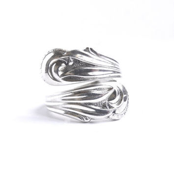 Vintage Sterling Silver Spoon Ring -  Towle 1976 Statement Size 9 Jewelry / Flatware Fashion