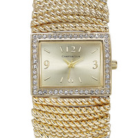 Charter Club Gold-Tone Stretch Bracelet Watch 30x34mm, Created for Macy's - Women's Watches - Jewelry & Watches - Macy's