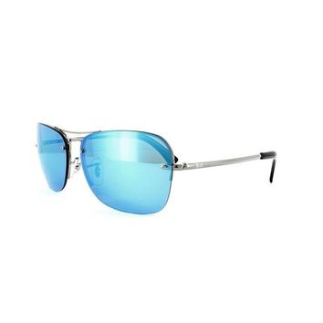 Kalete Ray-Ban Sunglasses 3541 004/55 Gunmetal Blue Mirror