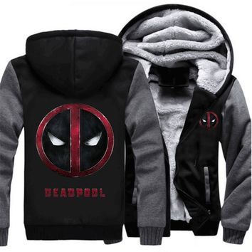 Deadpool Dead pool Taco USA SIZE Superhero  Hoodies, Sweatshirts for men Winter Thicken Warm Zipper Jackets Men Casaul Full Hooded clothes New AT_70_6