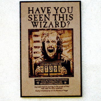 Sirius Black wanted poster - Harry Potter woodburned art