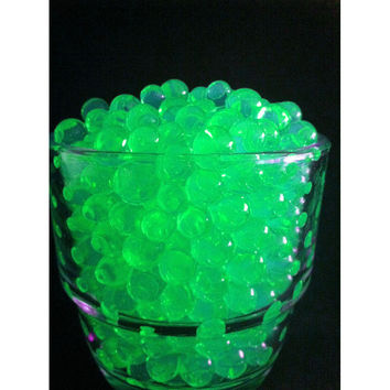 Water Beads Pearls Jelly Balls Vase Fillers, Large, Apple Green