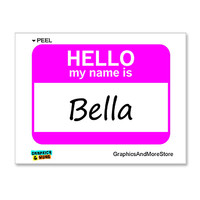 Bella Hello My Name Is Sticker