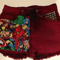 o'ak Denim — Marvel Avengers Customised shorts