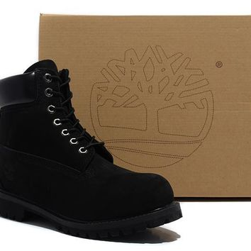Timberland Rhubarb Boots 2018 Black For Women Men Shoes Waterproof Martin Boots