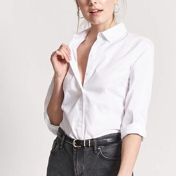 Darted Poplin Shirt