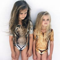 Baby Girls Leopard Print Swimsuit