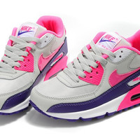 Womens Pink & Purple Nike Air Max 90 Running Shoes