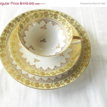 On Sale Vintage Rosenthal Tea Cup, Saucer and Dessert Plate Trio, Selb Germany, Christmas Gift Inspiration
