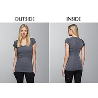 2017 LULULEMON WOMEN GIRLS SHORT SLEEVE YOGA SPORTS T SHIRTS