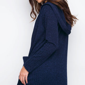 Fia Knit Cardigan - Navy