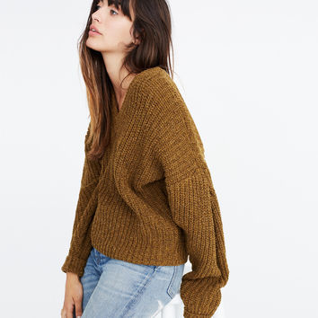 Pleat-Sleeve Pullover Sweater : | Madewell
