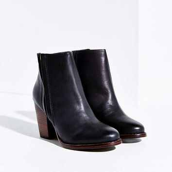 Silence + Noise Vegan Leather Half-Stacked Boot - Urban Outfitters