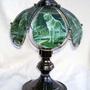 Wolves In Forest Small Touch Lamp