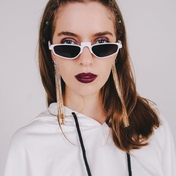 Private Show Sunglasses | White