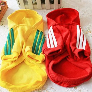 Free shipping dog clothes puppy pet coat dog hoodie sweater pet shop adidogs pet dog clothes for chihuahua pet products supplies