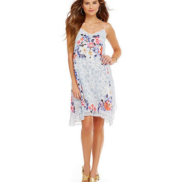 M.S.S.P. Floral Georgette Swing Dress | Dillards