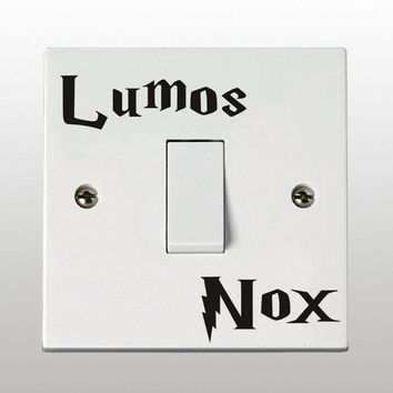 Harry Potter Lumos Nox Light Switch Sticker Child Room Home Decor Vinyl Wall Decal Stickers For Children Rooms Decoration