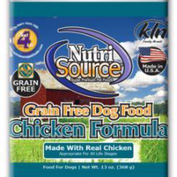 Nutri Source Grain Free Chicken Can Dog Food 12-13Z