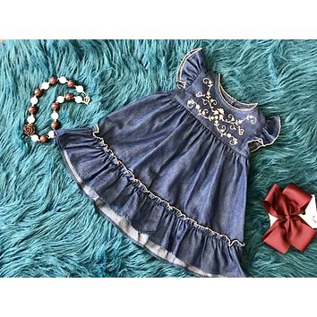 2018 Fall Adorable Navy Vintage Detailed Dress