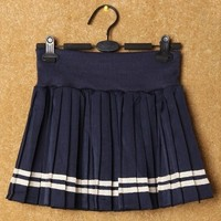 Salior Pleated Mini Skirt - OASAP.com
