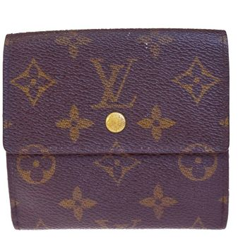 Auth LOUIS VUITTON Elise Trifold Wallet Purse Monogram Leather M61654 BN 03EC097